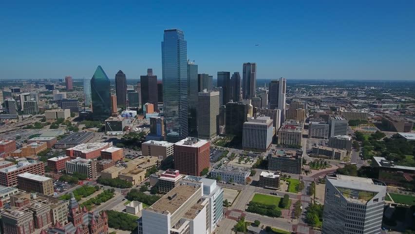 Aerial Texas Dallas September 2016 4K