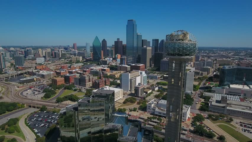 Aerial Texas Dallas September 2016 4K