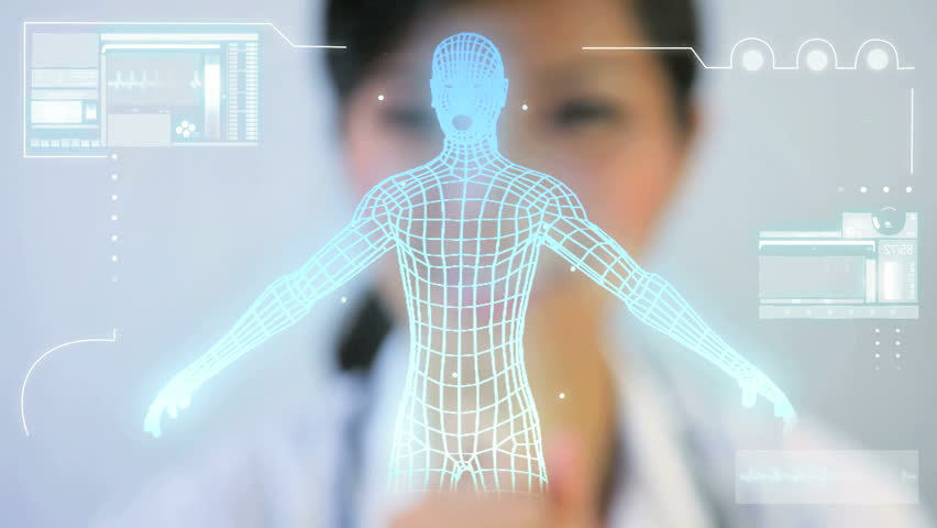 Commercial images Asian Chinese doctor digital motion graphic virtual 3D of running man for medical and scientific research data | Shutterstock HD Video #2543645