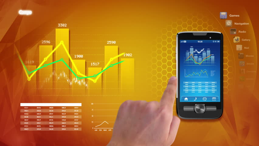 Hands using business applications on a touchscreen smart phone | Shutterstock HD Video #2543654