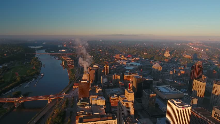 Aerial Minnesota Saint Paul September 2016 4K | Shutterstock HD Video #25440194