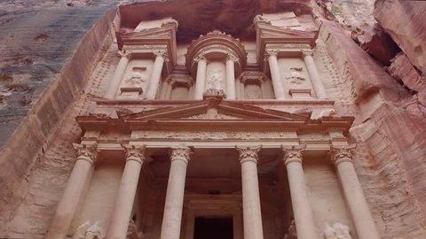 Petra - ancient city, view of Treasury. Jordan.