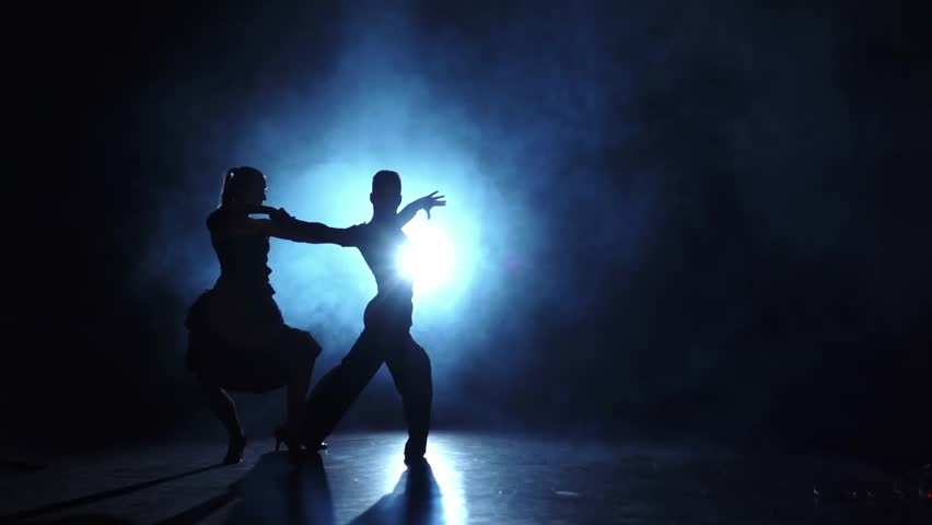 Final point in dances performed by two ballroom dancers, studio