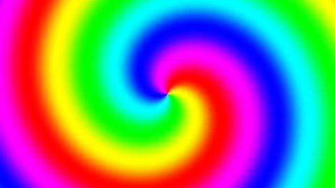 Rainbow spectral swirl rotating slowly anticlockwise, seamless loop