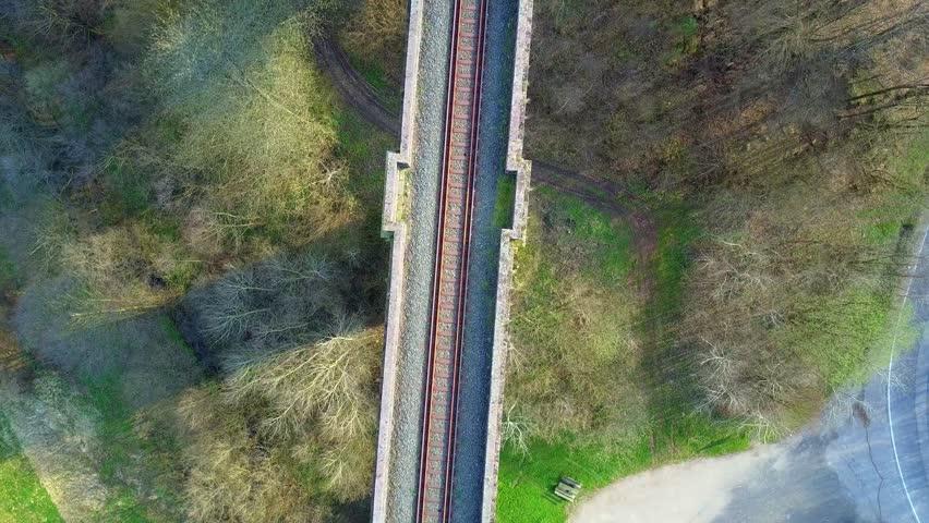 Aerial view of Aqueduct landmark | Shutterstock HD Video #25462334