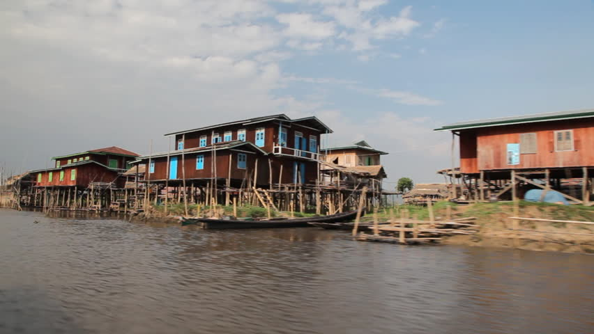 INLE LAKE, MYANMAR - APRIL 22: Trip on the boat through Inle lake on April 22, 2012 on Inle lake, Myanmar. Inle lake is one of the most popular place to visit in Myanmar.