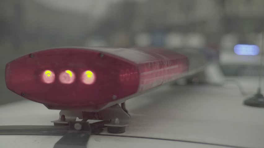 Red and blue flashing lights of police | Shutterstock HD Video #25515764
