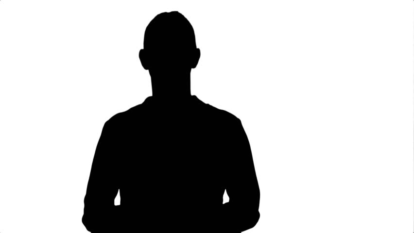 Silhouette Portrait of a Young Stock Footage Video (100% Royalty-free)  25535744 | Shutterstock