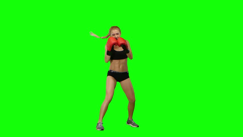 Boxer standing in the front and sends butted an opponent standing on the spot. Green screen | Shutterstock HD Video #25547219