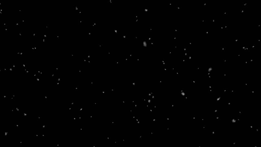 Falling Snow, Alpha channel, transparent background, loop.