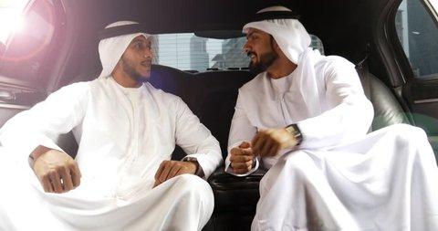 Arabian business men on the limousine