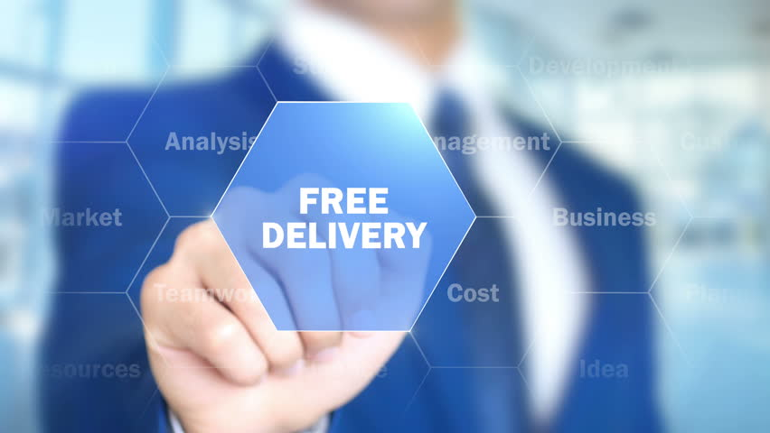 Free Delivery, Businessman working on holographic interface, Motion Graphics | Shutterstock HD Video #25761614