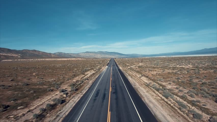 Above the road in a desert | Shutterstock HD Video #25801724