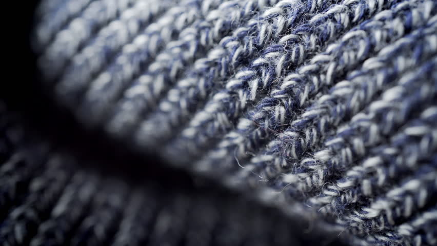 Wool texture background extreme close up stock footage. Knitted wool pattern texture in macro close up with a sliding camera move. | Shutterstock HD Video #25838594
