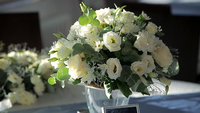 Stock video of flower decorations on the wedding tables 2266226 hd0010holiday flowers mightylinksfo