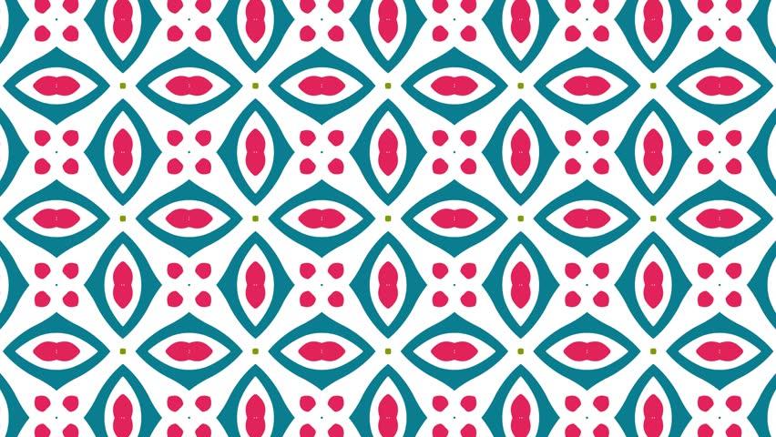 4K Kaleidoscopic video background loop animation red pattern. Modern abstract kaleidoscope motion design   Shutterstock HD Video #25907864