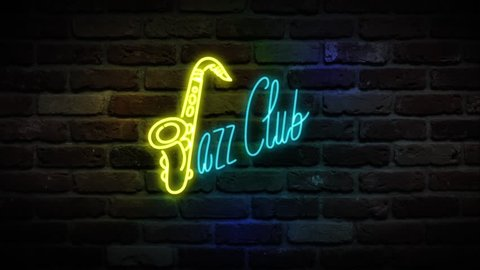 Neon Live Music sign / Neon Jazz Club sign