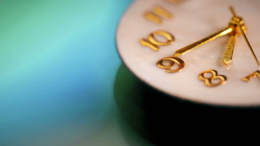 Beautiful clock shot with macro lens | Shutterstock HD Video #25991144