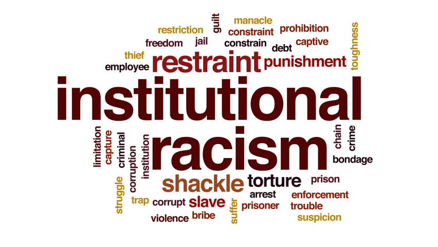 institutional racism When i first encountered the view that institutional racism, not personal  animosity, is what keeps racial inequality alive, i felt relieved if the problem of  injustice.