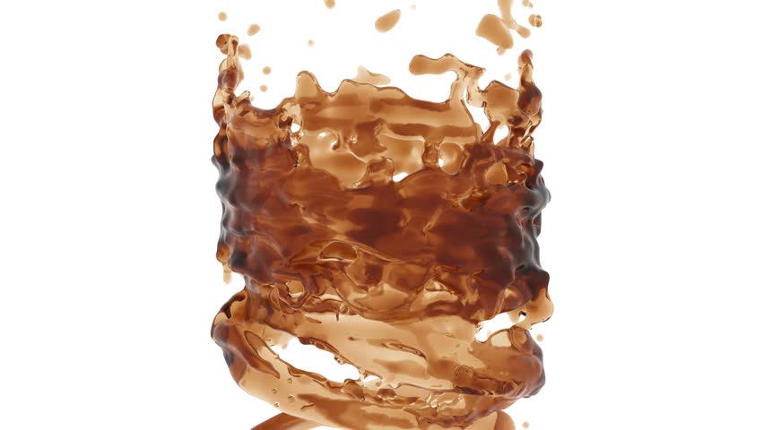 vortex of liquid. alpha channel