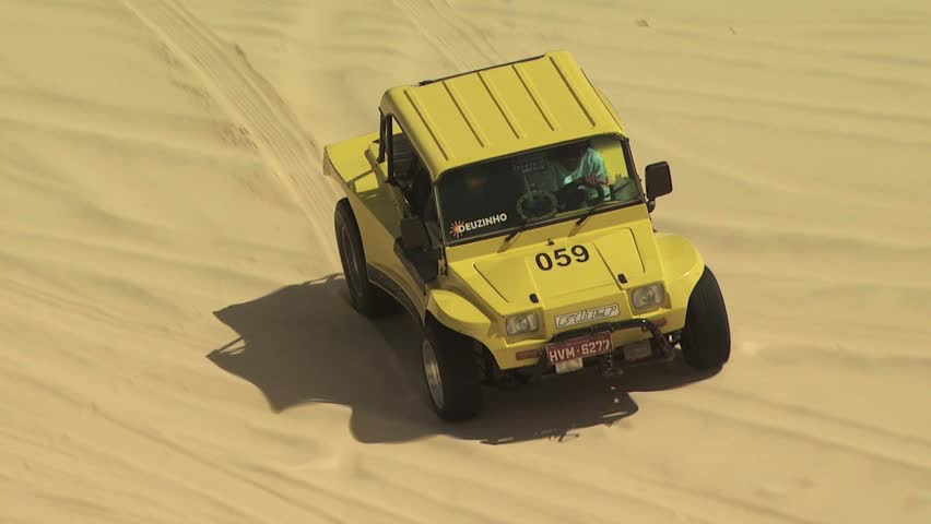 SAND DUNES, BRAZIL- CIRCA 2010: Dune Buggy on the Sand