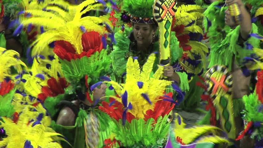 BRAZIL RIO DE JANEIRO - CIRCA 2010: Carnival Dancers In Rio