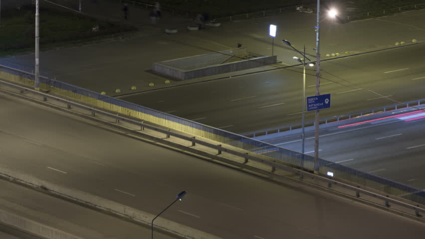 Night City Road Time Lapse With Blurry Car Lights and People | Shutterstock HD Video #26106074