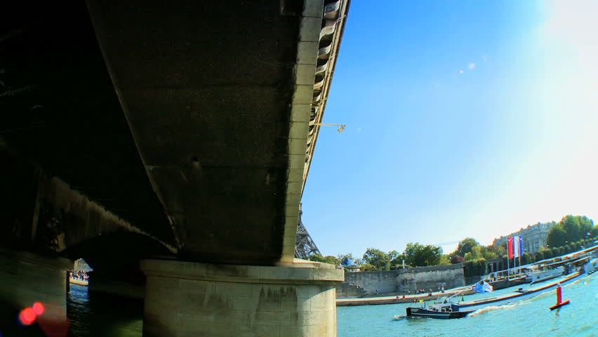 Views of Paris,France from a sightseeing cruise on the River Seine | Shutterstock HD Video #261304