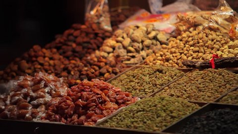 Spices on display at market in Dunhuang, China, a great city on the Silk Road,