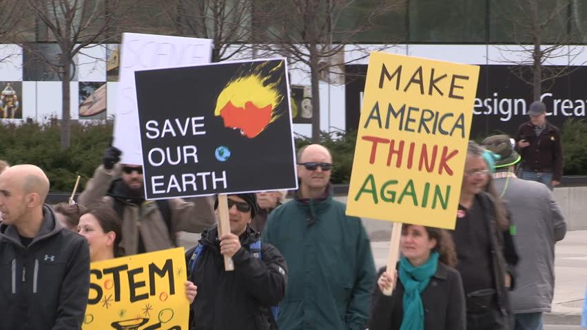 Toronto, Ontario, Canada April 2017 Toronto science march protest