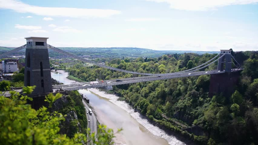 Clifton Suspension Bridge, over Avon River, Summer Day, Bristol UK