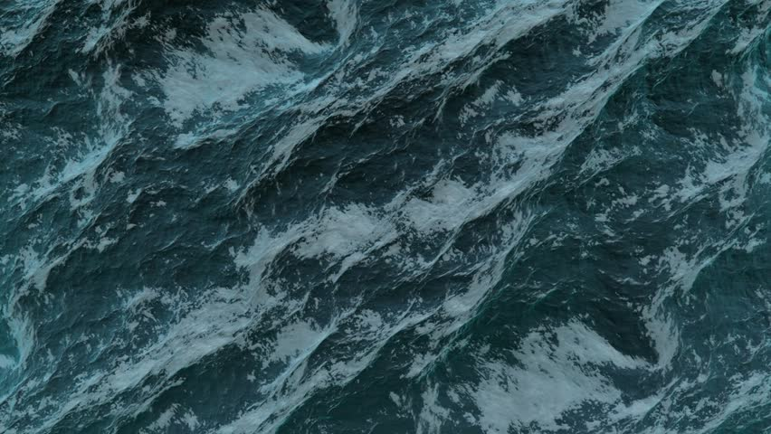 Storming ocean texture, top view in Full HD