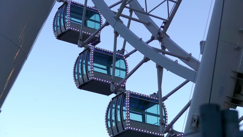 Malaga Ferris Wheel, also known as Noria Mirador Princess, is stellar, 70 meter-high observation wheel based in Malaga port, Spain. Attraction offers breathtaking panoramic views up to 30 kilometers.