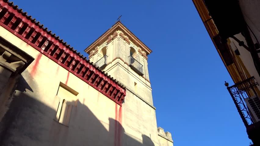 Hermandad de San Esteban on Medinaceli Street in Seville, Andalusia, Spain.
