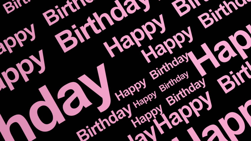 Happy Birthday Looping Text in Pink