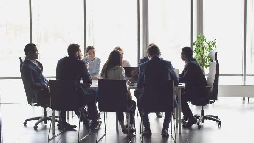 Creative business team meeting in modern start up office.   Shutterstock HD Video #26287754