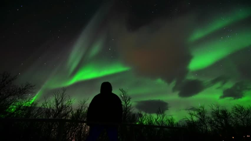 A very happy aurora watcher
