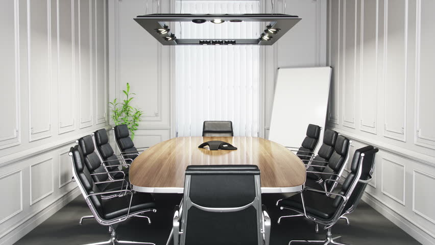 Boardroom Zooming To The Executive Chair   HD Stock Video Clip