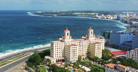 Aerial shot of Hotel Nacional de Cuba, Havana, Cuba