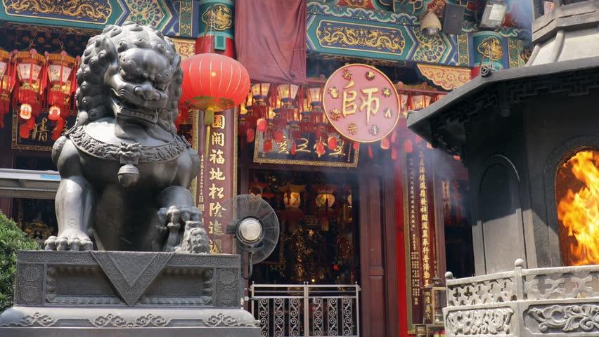 Wong Tai Sin, Hong Kong, 01 May 2017 -: Wong Tai Sin Temple in Hong Kong