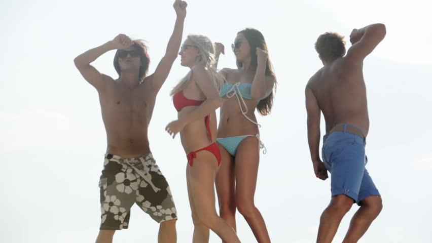 Hot Girls Dancing Together