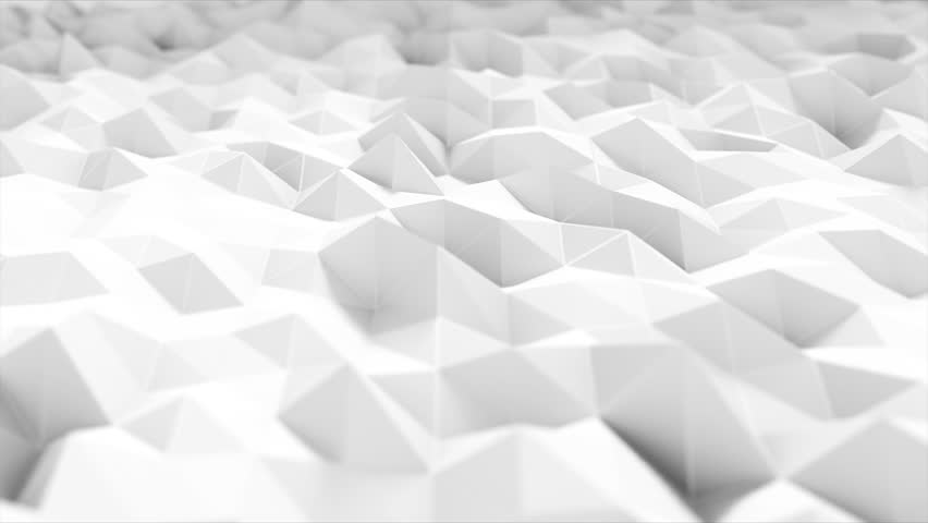 White polygonal surface waving with DOF. Abstract geometrical modern. Triangle polygon. Realistic 4k animation. | Shutterstock HD Video #26513834