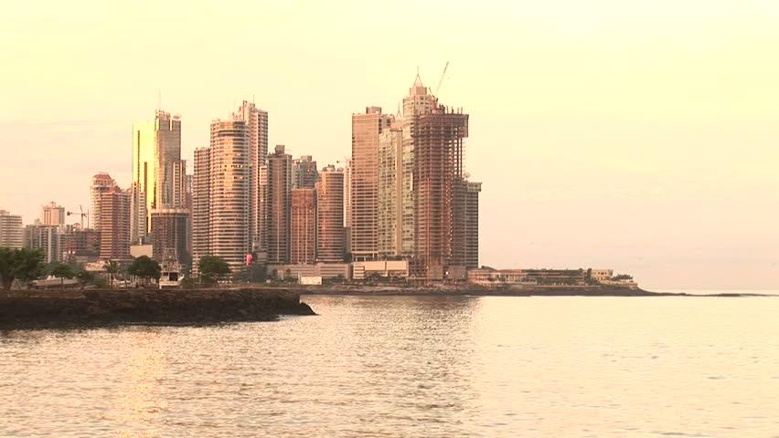 Panama City in sunset, Panama