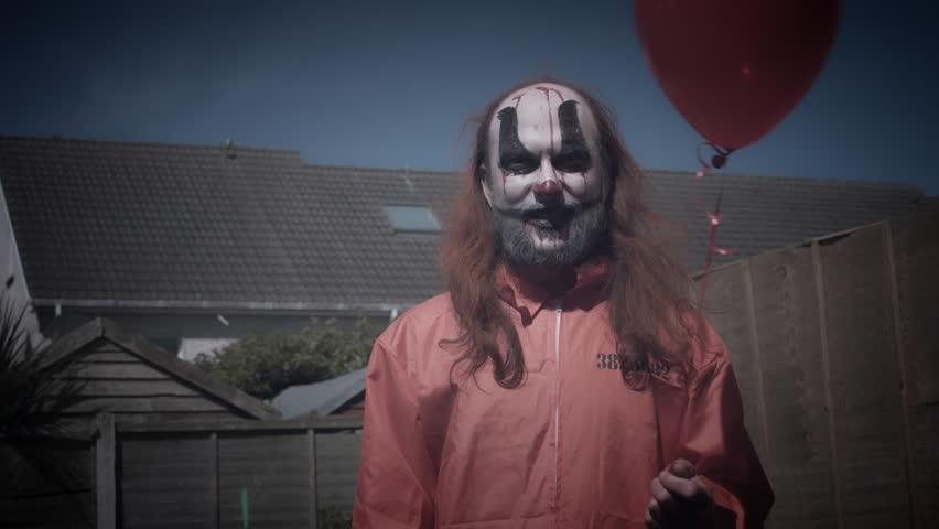 4k Halloween Horror Clown Man Evil Laugh