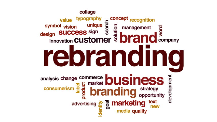 Rebranding animated word cloud, text design animation. | Shutterstock HD Video #26555144