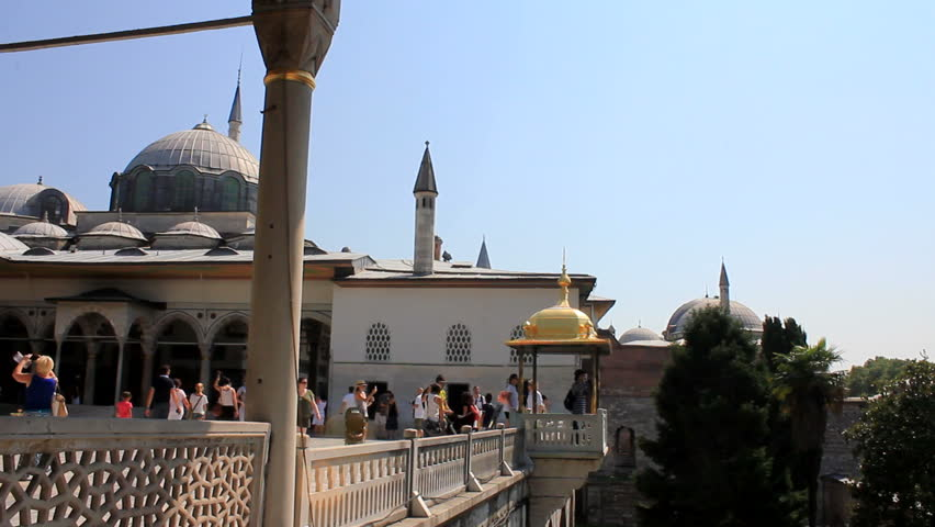 ISTANBUL, TURKEY - 26 July 2012: The Topkapi Palace is a large palace in Istanbul, Turkey, built by the Ottoman Sultans and used as a residence for around 400 years. 26 July 2012 - ISTANBUL, TURKEY.