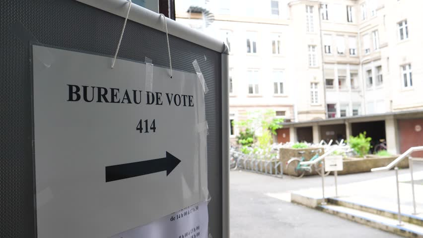 Stock video of bureau de vote sign in french shutterstock