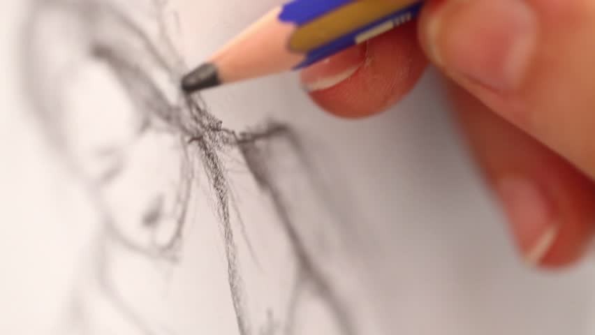 drawing with pencil
