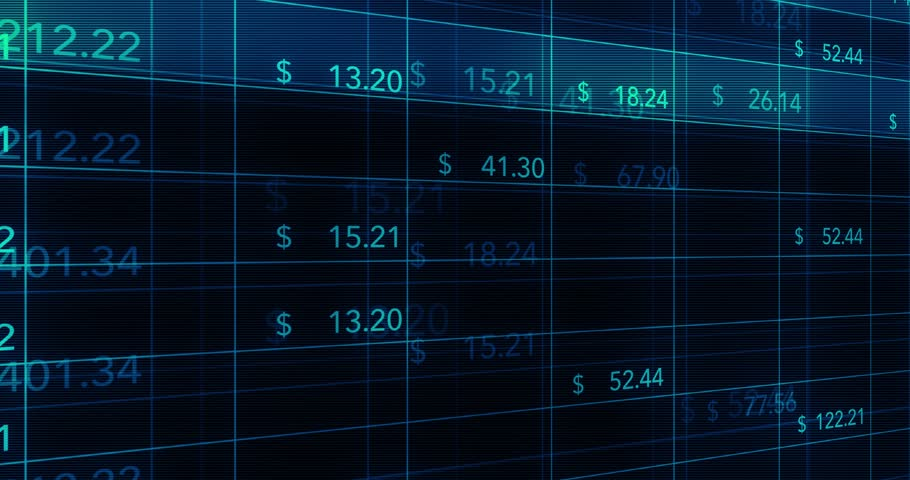 Digital computer financial data flickering on online spreadsheets   Shutterstock HD Video #26597345