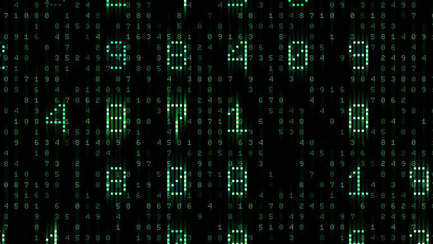 Digital world data space number text.   Shutterstock HD Video #26609144
